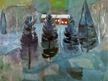 3776 50х38_Эдвард Мунк - ferme rouge et sapins, 1927