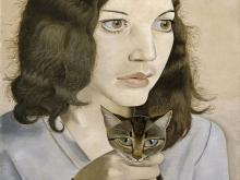 3644_60х45 Люсьен Фрейд - Девушка с котенком