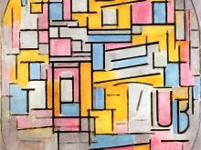 3655_50х37 Пит Мондриан - Композиция с овальными и цветными плоскостями II