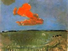 3662_50х40 Пит Мондриан - Paysage avec nuage rouge Landscape with red cloud, 1907