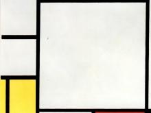 3665_50х41 Пит Мондриан - Композиция с голубым, красным, желтым и черным
