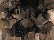 3669_50х42_Пит Мондриан - Paysage avec arbres Landscape with trees, 1912