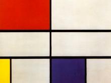 3676_50х50 Пит Мондриан - Композиция с красным, желтым и синим