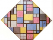 3678_50х51 Пит Мондриан - Композиция с решеткой, 1919