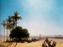2294_40х33 Айвазовский И.К. - Караван в оазисе. Египет