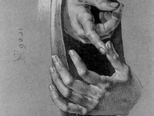 1947_50х45_Альбрехт Дюрер -  Этюд рук