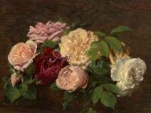 1468_90х55_Анри Фантен-Латур - Розы Ниццы на столе