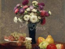 1472_100х103_Анри Фантен-Латур - Астры и фрукты на столе