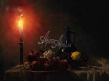 3421_65х52_А.Н.Антонов - Натюрморт при свече