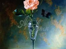 3438_70х57_А.Н.Антонов - Роза в стакане
