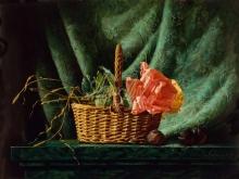 3454_90х67_А.Н.Антонов - Натюрморт с корзинкой и розой