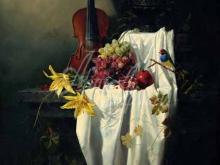 3456_90х69_А.Н.Антонов - Натюрморт со скрипкой