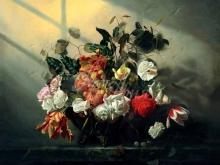 3462_90х82_А.Н.Антонов - Натюрморт с цветами и фруктами