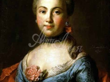 2518_50х39_И. П. Аргунов - Портрет неизвестной в темно-голубом платье