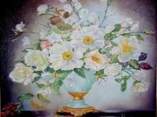 Цветы в вазе 38х50 Алекс Гебель. Холст. Масло. 51 800 руб.