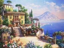 3563_60х48_Рене Биглер - Среднеземноморский пейзаж 1