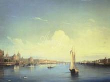2609_80х56_А. П. Боголюбов - Петербург при заходе солнца.1850