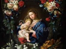 1599_70х54_Ян Брейгель(младший) - Мадонна с младенцем в цветочном картуше
