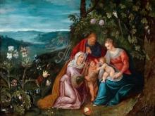 1602_80х61_Ян Брейгель(младший) - Св. семейство со св Елизаветой