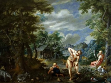 1603_80х63_Ян Брейгель(младший) - Адам за работой в поле