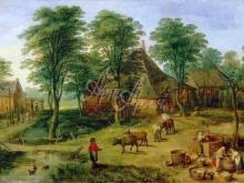 1607_100х62_Ян Брейгель(младший) - Крестьянское подворье