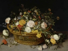 1609_100х142_Ян Брейгель(младший) - Корзина с цветами