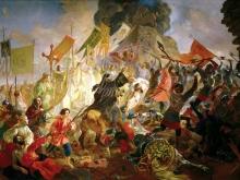 2616_80х57_К.П.Брюллов - Осада Пскова польским королём Стефаном Баторием в 1581 году