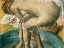 1775_80х55_Э. Дега - Женщина моется в тазу