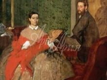 1783_80х61_Э. Дега - Эдмондо и Тереза Морбилли
