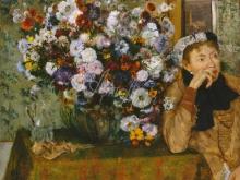 1785_80х63_Э. Дега - Женщина, сидящая рядом с вазой с цветами