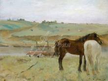 1786_80х63_Э. Дега - Лошади на лугу