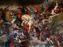1800_90х76_Э. Делакруа - Битва при Тайбуре 21 июля 1242 года