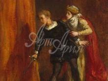 1801_80х56_Э. Делакруа - Гамлет и его мать