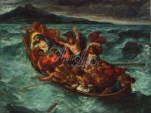 1807_90х74_Э. Делакруа - Христос спит во время бури