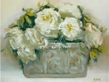 3062_102x80 А.Дерн - Белые розы в горшочке
