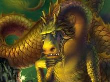 8054_50х35_Девочка и дракон