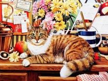 8055_50х40_Натюрморт с рыжим котом 1