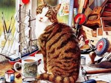 8058_50х40_Натюрморт с рыжим котом 2