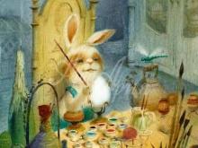 8067_30х40_Игорь Олейников - Кролик за рисованием