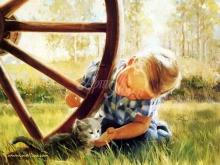 8072_45х36_Мальчик и котик