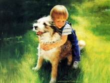 8073_45х36_Мальчик с собачкой