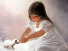 8084_67х38_Девочка и белый котик
