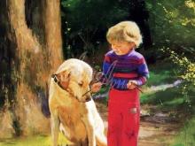 8085_67х38_Мальчик с собакой