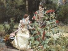 1044_45х35_Чезаре Детти - В саду