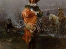 1085_45х34_Чезаре Детти - Джентельмен в плаще