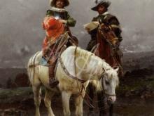 1098_60х42_Чезаре Детти - Кавалер на белом коне