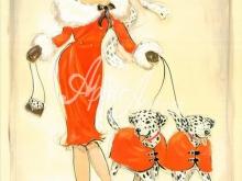 3016_70x53 Дюпре А.- Танцующие далматинцы