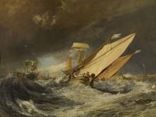 10012_110х84_Джозеф Мээллорд Уиильям Тёрнер - Рыбачьи лодки, идущие в Кале