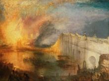 10020_100х74_Джозеф Мээллорд Уиильям Тёрнер - Пожар в палатах Лордов и Общин
