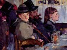 10007_60х55_Эдуард Мане - Im Cafe Cabaret von Reichshoffen